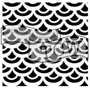 fish-scales fabric stencil