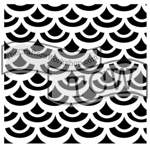 fish-scales fabric stencil