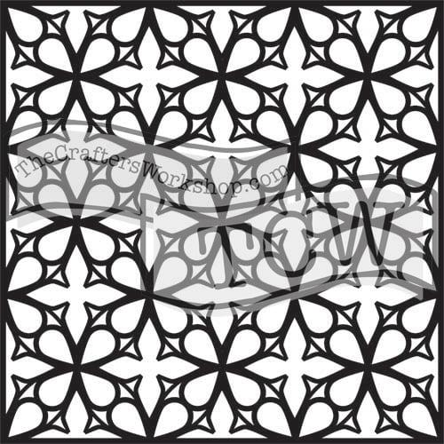 garden-gate fabric stencil