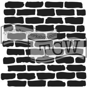 bricks fabric stencil