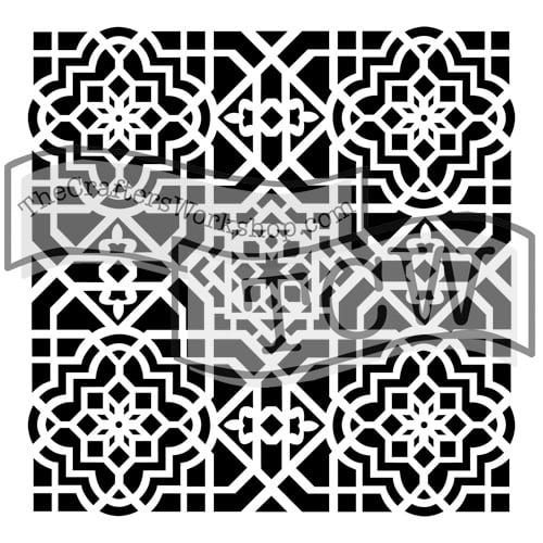 mini-ceiling-tile fabric stencil