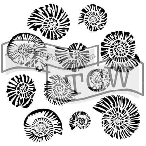 nautilus fabric stencil