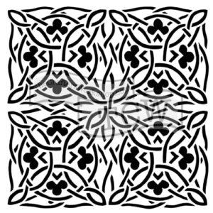 celtic-design fabric stencil