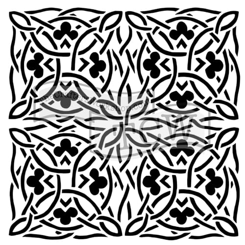 celtic-design fabric stencil