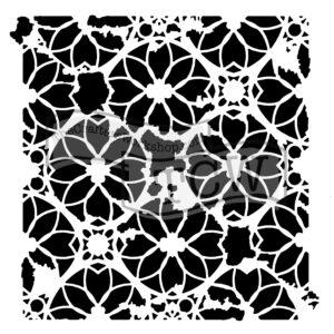 distressed-lace fabric stencil