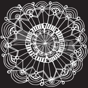 coronet-wreath fabric stencil