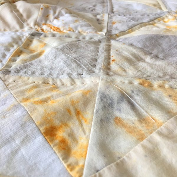 rusting fabric and thread