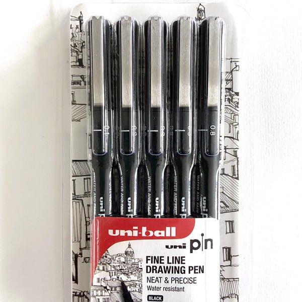 fineline black permanent pens