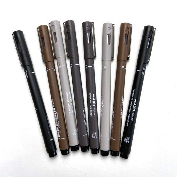 fineline permanent pens