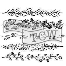stencil for fabric printing