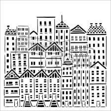 city stencil