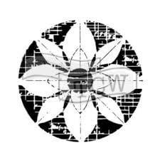 flower grid stencil for fabric printing