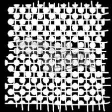 dots stencil for fabric printing