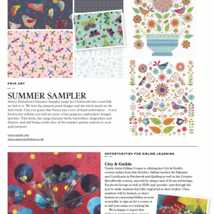 Online C&G courses featured in Today's Quilter preview