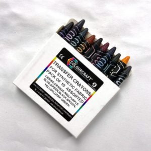 transfer crayons for fabric colouring