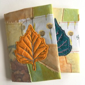 Textile art notebook cover
