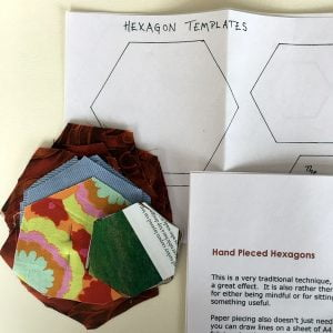 Hexagon patchwork templates