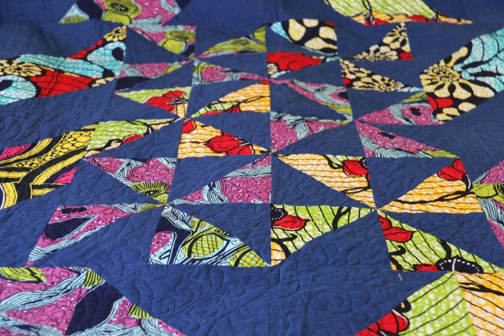 triangle quilting - textile art