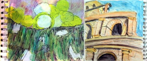2 day creative sketchbook course